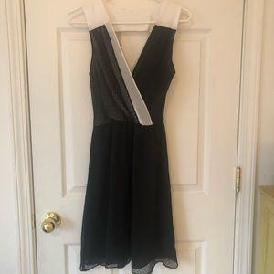 Amadi Black and white overlay dress. Size Small.